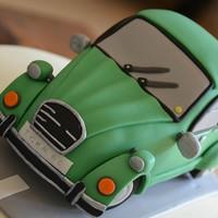 Торт машина из мастики