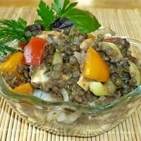 Салат из чечевицы вкусный и простой