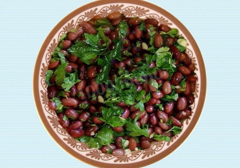 салат из фасоли рецепты виде