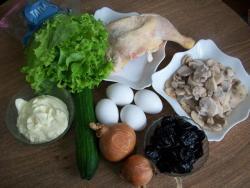 вот такой набор продуктов понадобится для приготовления этого салата