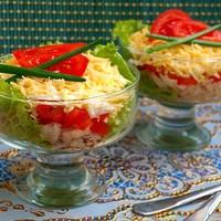 Салат из консервированного минтая