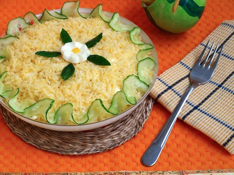 Мужской каприз салат рецепт с огурцом