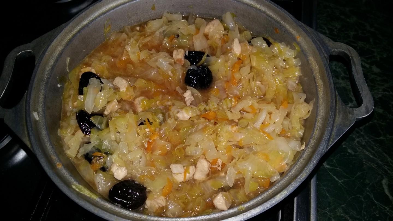 капуста с черносливом рецепт