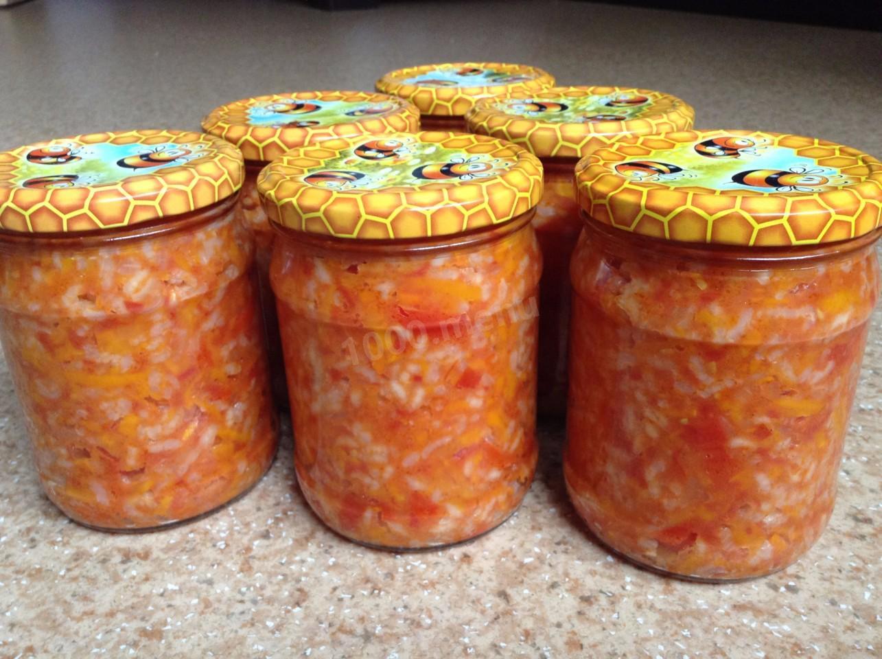 Салат рисовый на зиму с фото