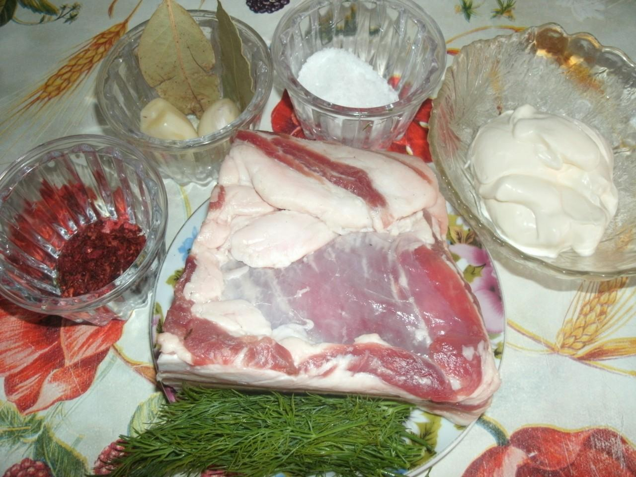 Как засолить свиную грудинку рецепт пошагово