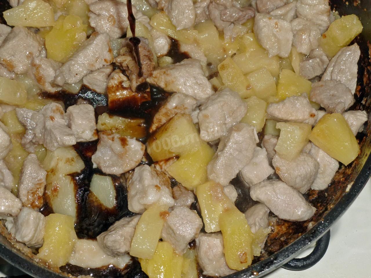 Курица в кисло-сладком соусе с ананасами пошаговый рецепт