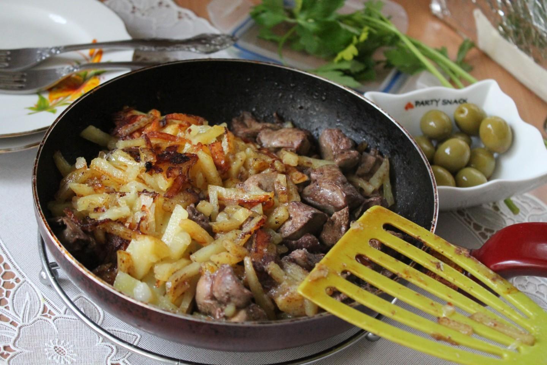 Кулинарные рецепты картошка с печенью