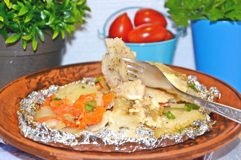 Рецепт филе рыбы в духовке с картошкой