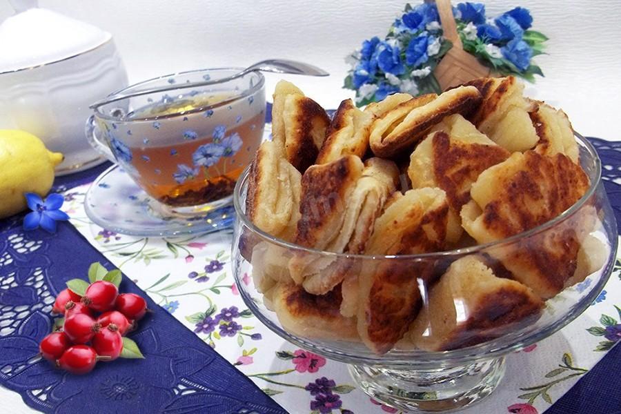 рецепты творожных печенья блюд на сковороде