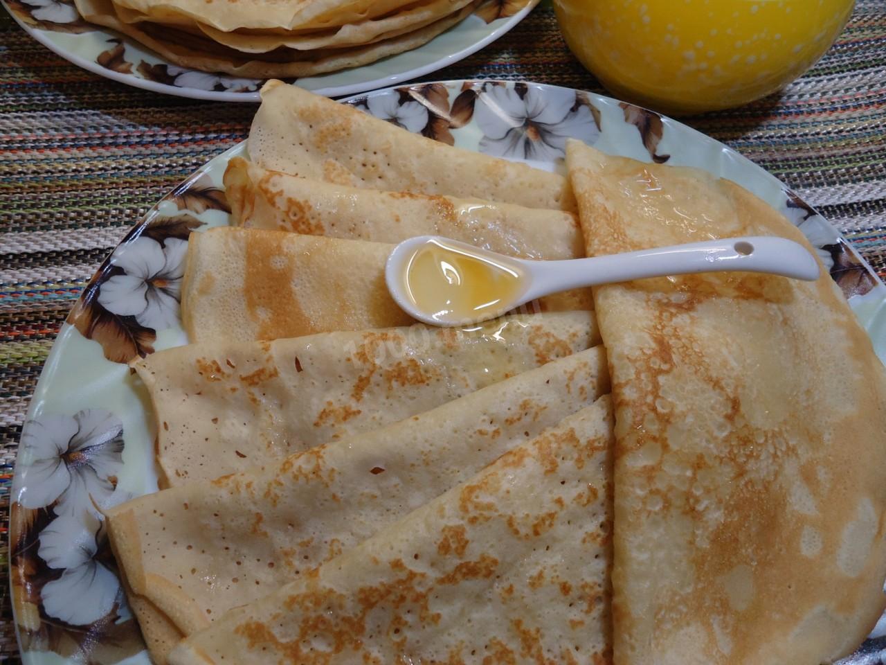 Пошаговый рецепт вкусных блинов