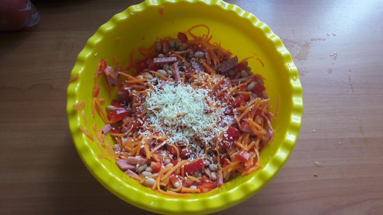 Салат с сухариками рецепт пошагово с