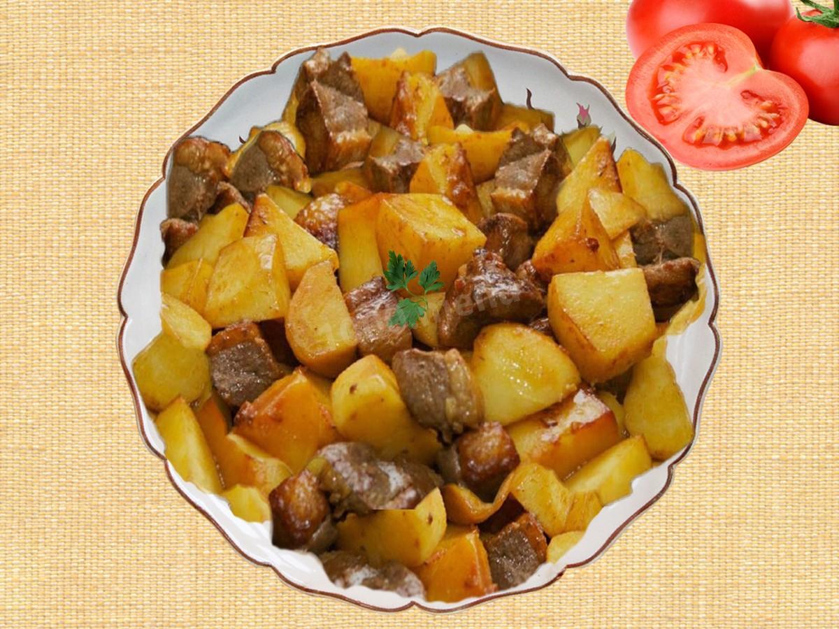 Вкусная тушеная картошка с индоуткой