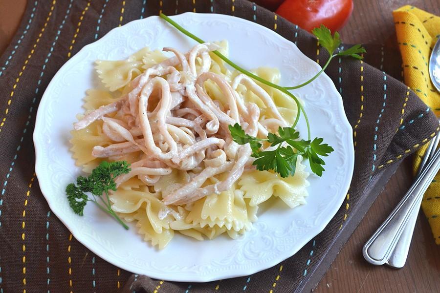 Рецепт кальмаров в сметанном соусе пошагово 70