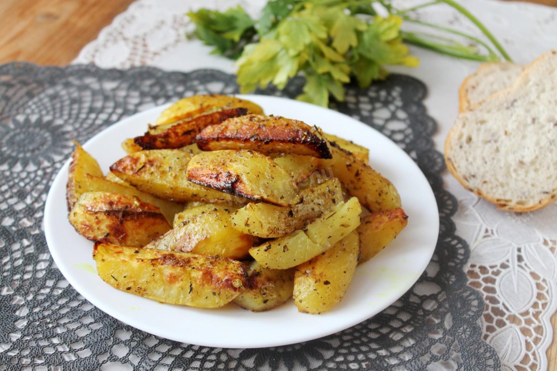 Запечённый картофель в духовке с сыром рецепт пошагово