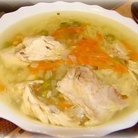 Вкусный суп с курицей и вермишелью