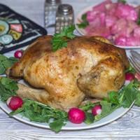Курица в фольге целиком в духовке