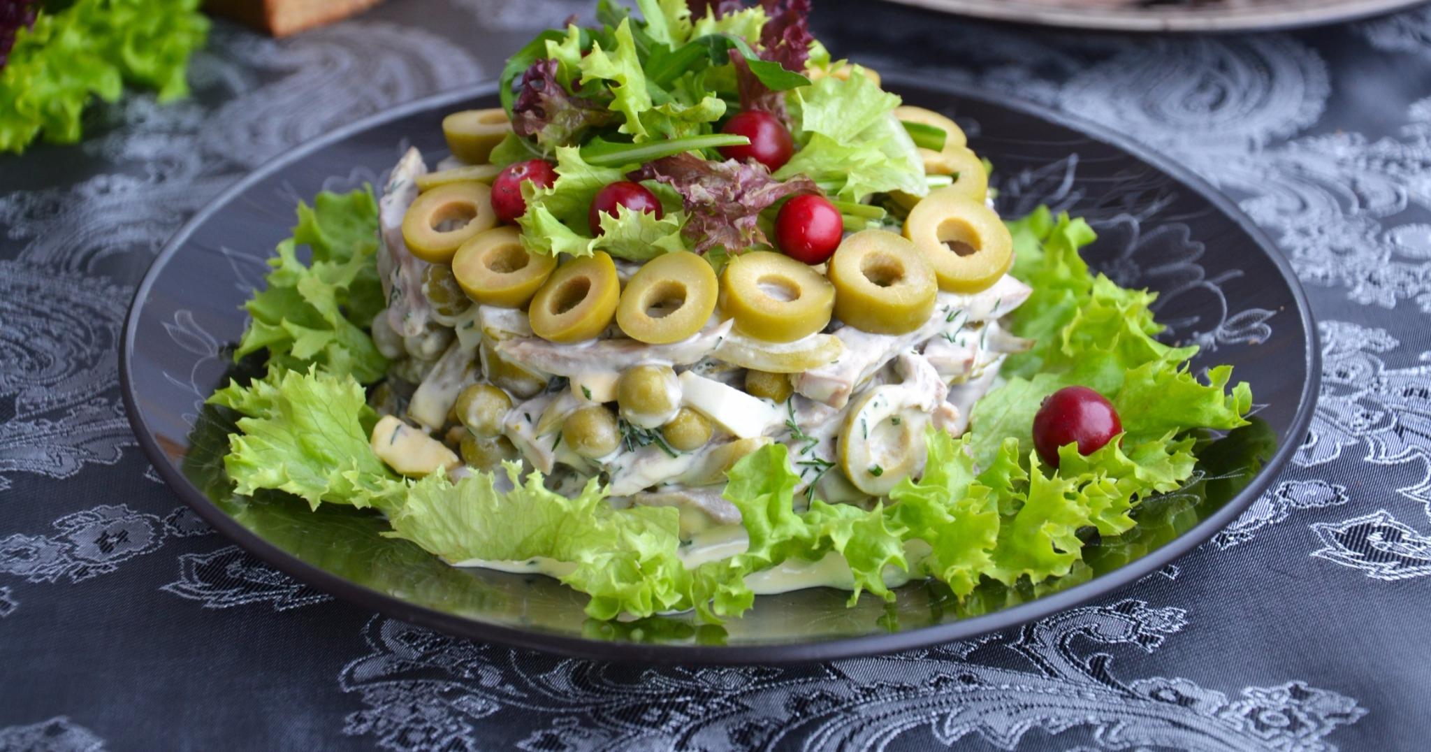 Салат из языка пошаговый рецепт