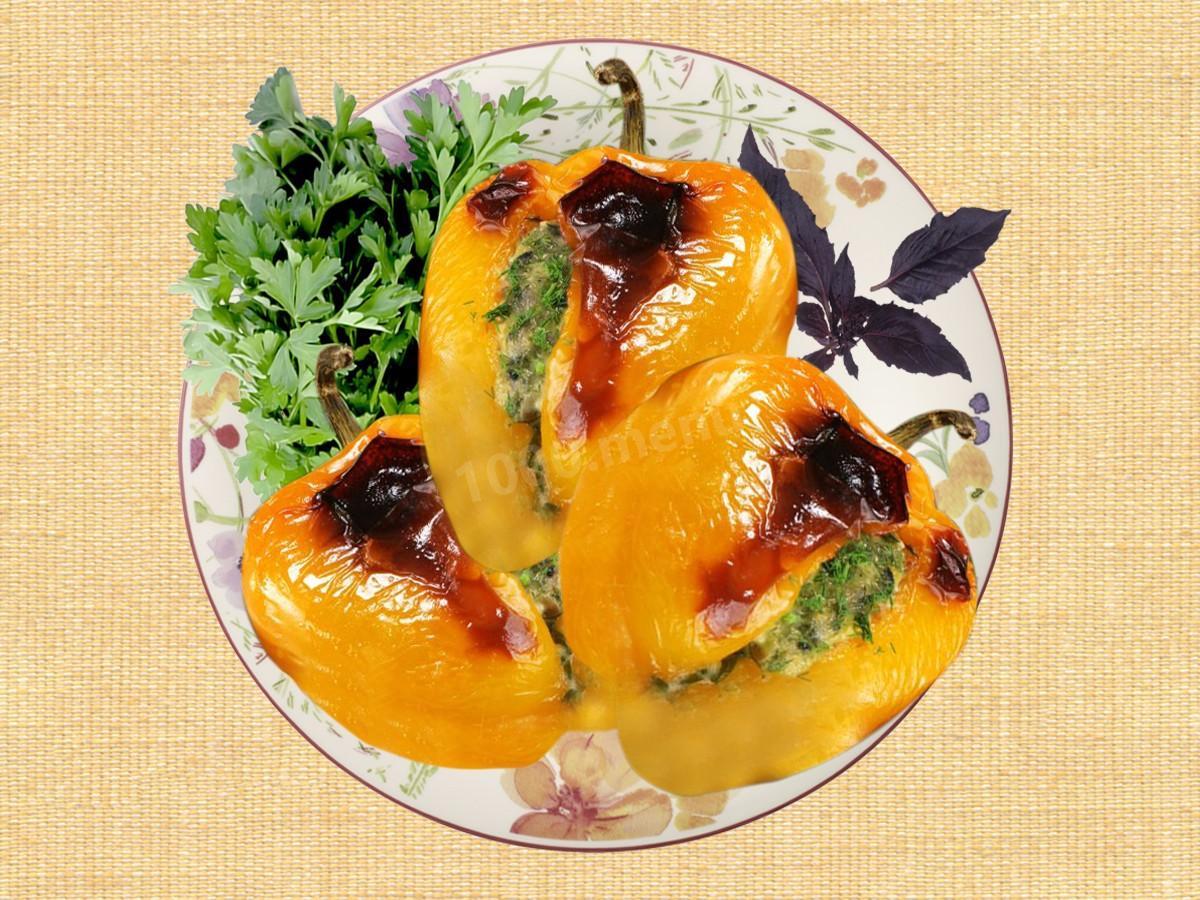 Перец фаршированный с подливом пошагово
