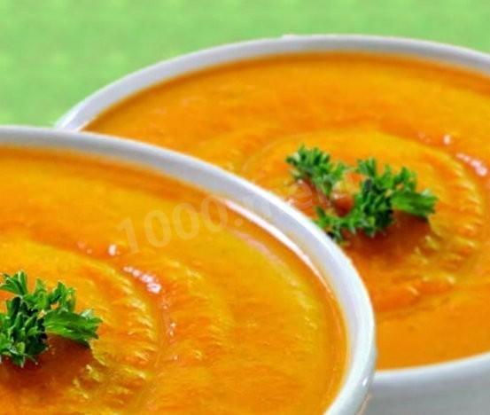 Суп из тыквы с картофелем и морковью