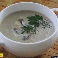 Куриный суп пюре со сливками грудками и шампиньонами