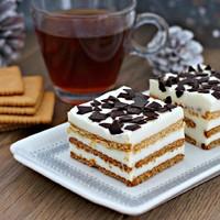 Торт печенье творог желатин без выпечки
