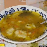 Суп с клецками из теста