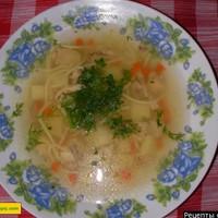 Как приготовить простой суп с мясом картошкой луком и лапшой
