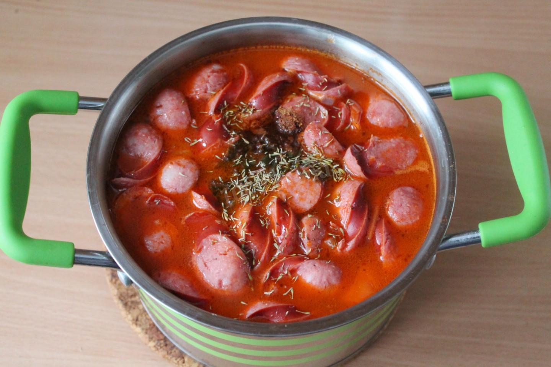 суп из охотничьих колбасок рецепт с фото природа