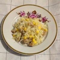 Легкий витаминный салатик из редьки и капусты