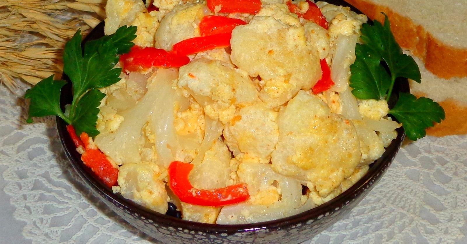 Как пожарить цветную капусту вкусно на сковороде пошаговый рецепт