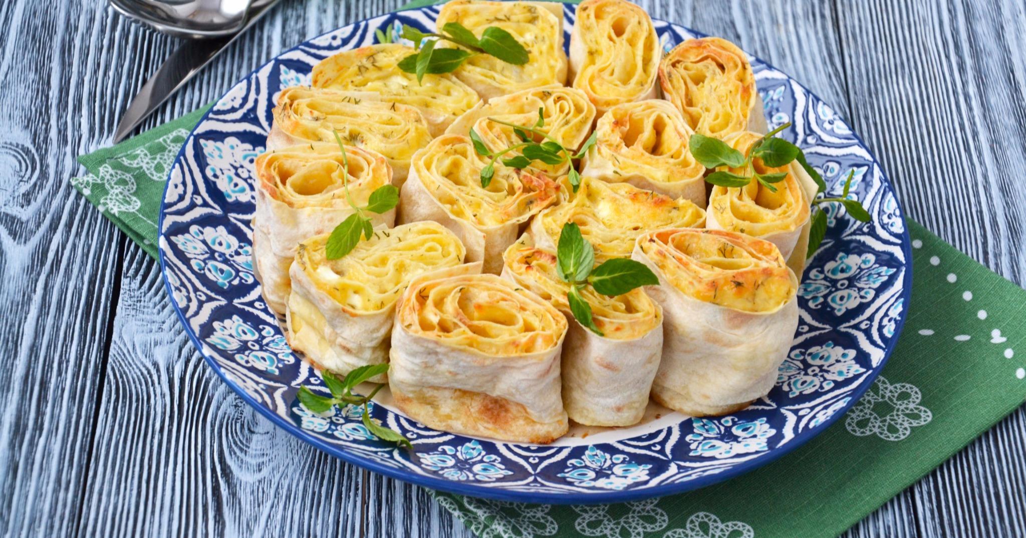 Лаваш с зеленью и сыром фото рецепт пошаговый
