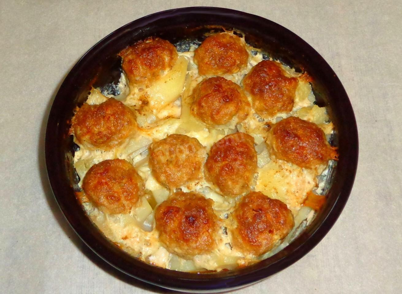 Фрикадельки с картофелем пошагово