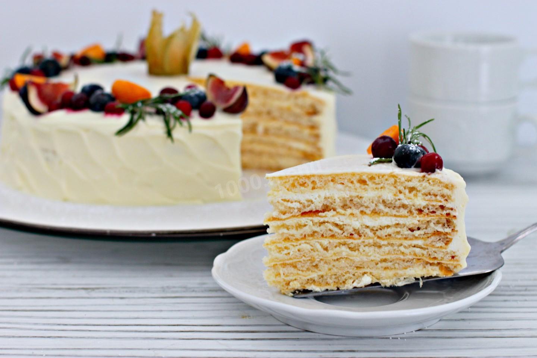 Рецепт торта молочная девочка с пломбирным кремом и клубникой