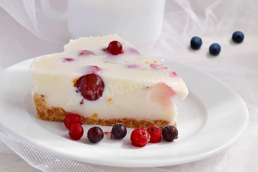 бисквитно йогуртовый торт с фруктами рецепт с фото