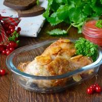 Куриные голени под калиновым соусом