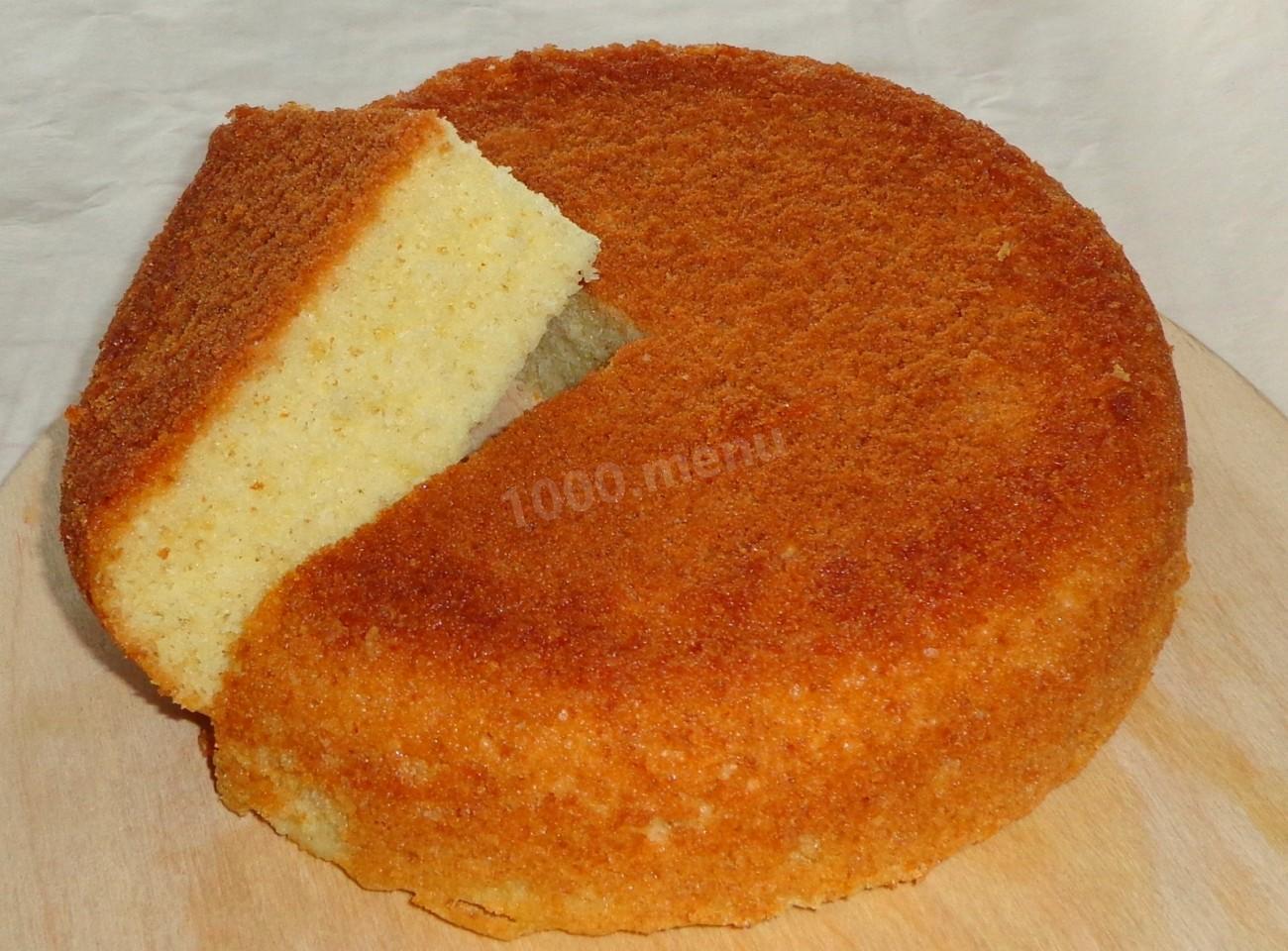 Бисквит простой рецепт в мультиварке фото