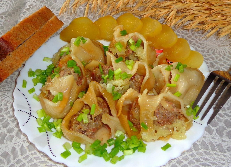 Пошаговый рецепт фаршированных макарон ракушек