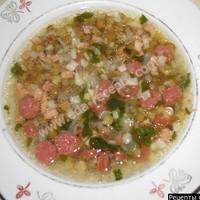 Сытный суп из чечевицы