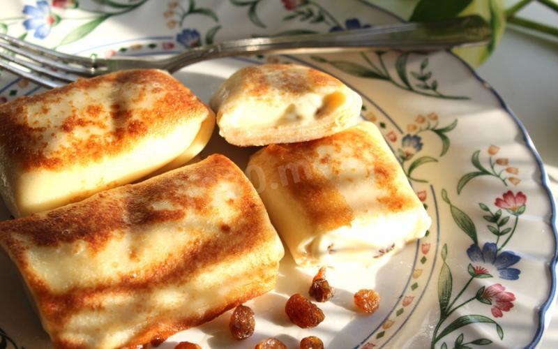 Соленые блинчики с творогом рецепт пошагово
