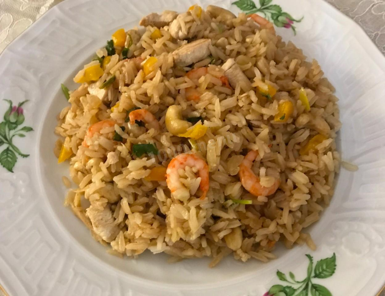 Рис по тайски с овощами рецепт пошагово в