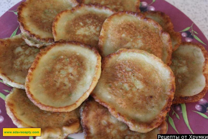 Вкусные сладкие оладьи из кабачков рецепт