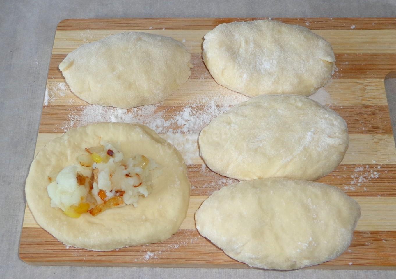 Пирожки на кефире жареные рецепты пошагово