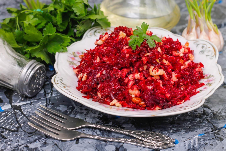 Салат из свеклы с сахаром рецепт