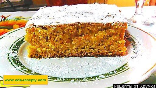 Морковный торт на кефире