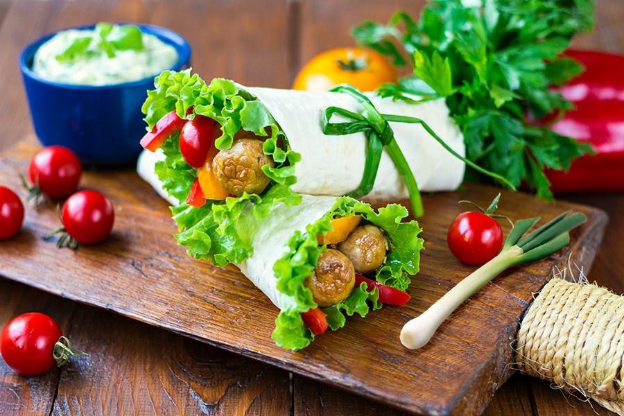Вегетарианская шаурма - рецепт пошаговый с фото