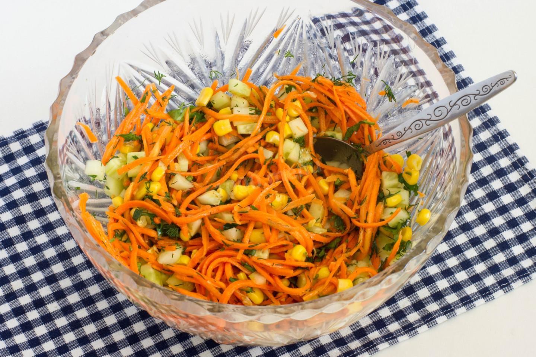Салат восторг с корейской морковью рецепт пошагово