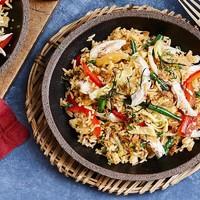 Рис по тайски с курицей