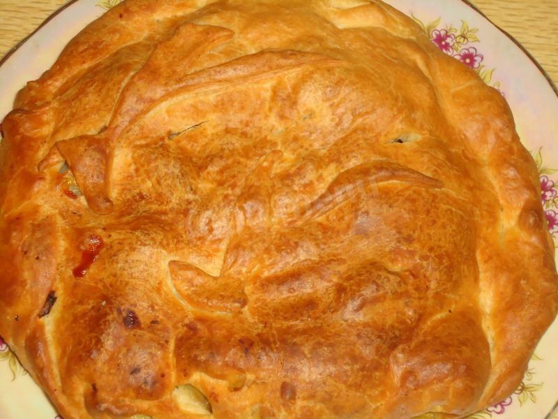 Слоеный пирог с курицей рецепт пошагово 83