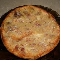 Яблочный пирог с яблоками на кефире