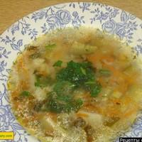 Рассольник с рисом веготорианский